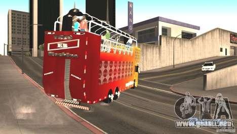 Scania 93H 6x2 Trio Eletrico para la visión correcta GTA San Andreas
