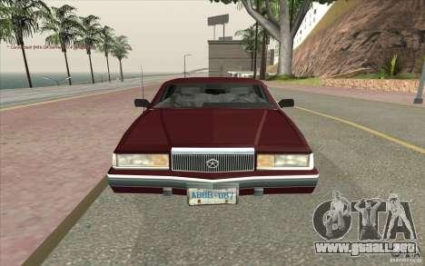 Chrysler Dynasty para la visión correcta GTA San Andreas