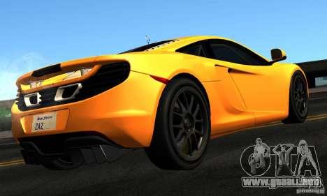 McLaren MP4-12C TT Black Revel para GTA San Andreas left