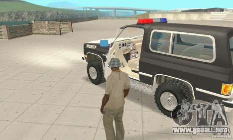 Chevrolet Blazer Sheriff Edition para visión interna GTA San Andreas
