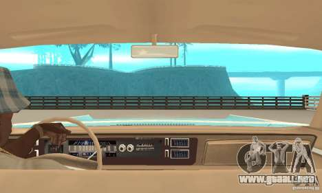 Chrysler New Yorker 4 Door Hardtop 1971 para GTA San Andreas vista hacia atrás