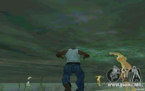 Las personas son capaces de nadar para GTA San Andreas segunda pantalla