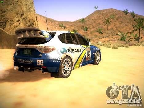 Subaru impreza Tarmac Rally para la visión correcta GTA San Andreas