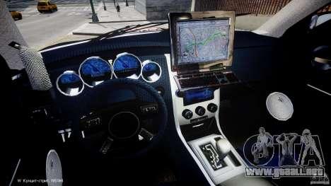Dodge Charger NYPD Police v1.3 para GTA 4 vista hacia atrás