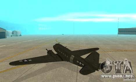 C-47 Skytrain para la visión correcta GTA San Andreas