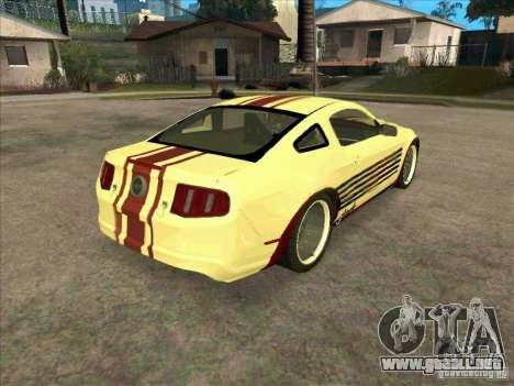 Ford Mustang Jade from NFS WM para la visión correcta GTA San Andreas