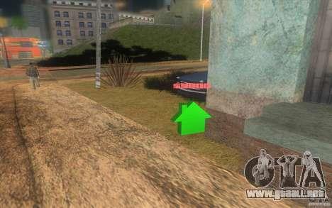 La casa verde para GTA San Andreas tercera pantalla