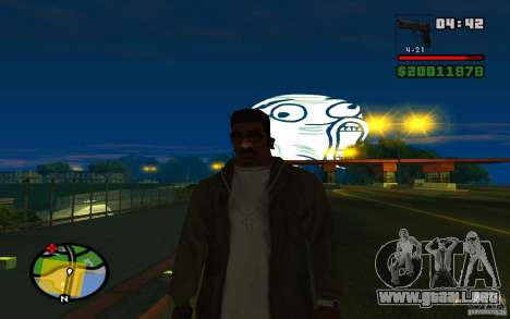 Lol Guy en el cielo para GTA San Andreas tercera pantalla