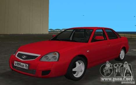 Lada 2170 Priora para GTA Vice City vista lateral