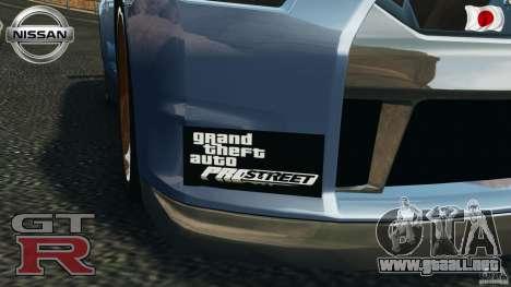Nissan GT-R 35 rEACT v1.0 para GTA 4 vista interior