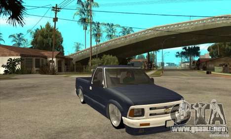 Chevrolet S-10 1996 Draggin para GTA San Andreas vista hacia atrás