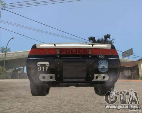 Police NFS UC para GTA San Andreas vista hacia atrás