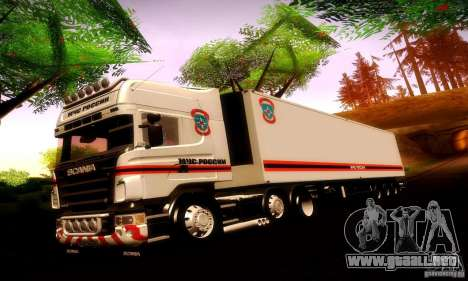 Scania R620 Emercom de Rusia para GTA San Andreas