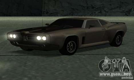 Cazador de caballería de Burnout Paradise para GTA San Andreas vista posterior izquierda