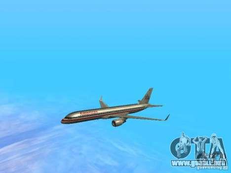 Boeing 757-200 American Airlines para la vista superior GTA San Andreas