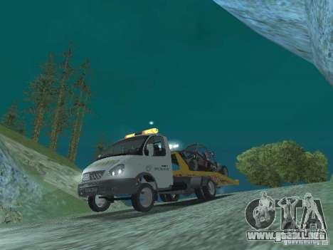 GAZ 3302 2003-2011. Camión de remolque para GTA San Andreas vista hacia atrás