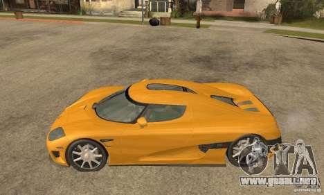 Koenigsegg CCX (v1.0.0) para GTA San Andreas left