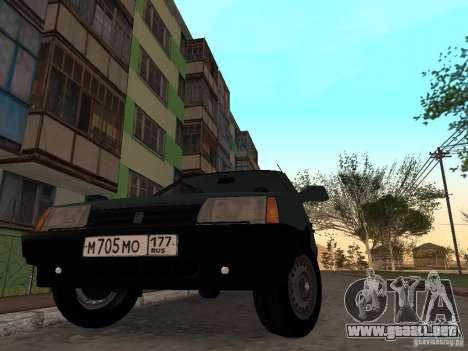 VAZ 21099 CR v. 2 para la visión correcta GTA San Andreas