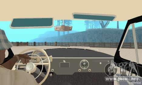 Volga GAZ-21 para GTA San Andreas vista hacia atrás