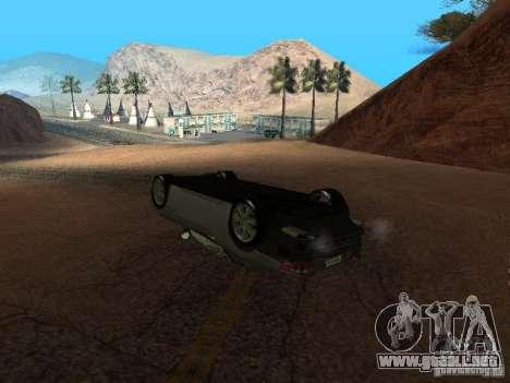 No te quemes coches volcados para GTA San Andreas