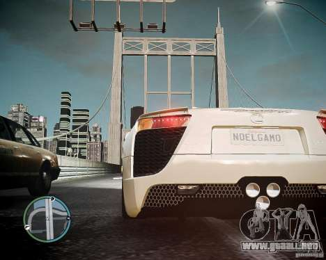 Lexus LF-A Roadster para GTA 4 Vista posterior izquierda