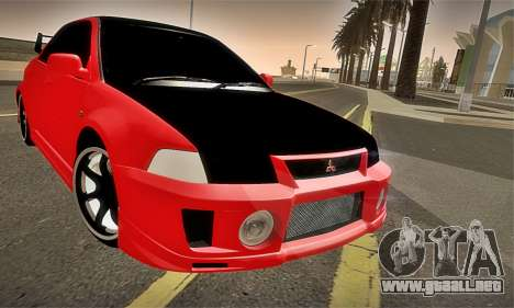 Mitsubishi Lancer Evolution 6 para la vista superior GTA San Andreas