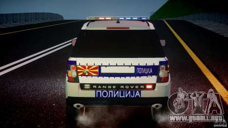 Range Rover Macedonian Police [ELS] para GTA 4 ruedas