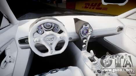 Ford GR-1 para GTA 4 vista hacia atrás
