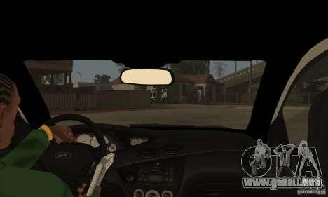 Ford Focus SVT para visión interna GTA San Andreas