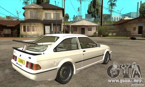 Ford Sierra RS500 Cosworth 1987 para visión interna GTA San Andreas