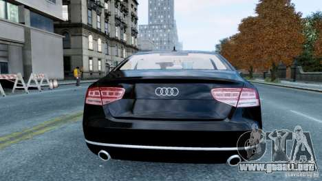 Audi A8 LED 2012 para GTA 4 visión correcta