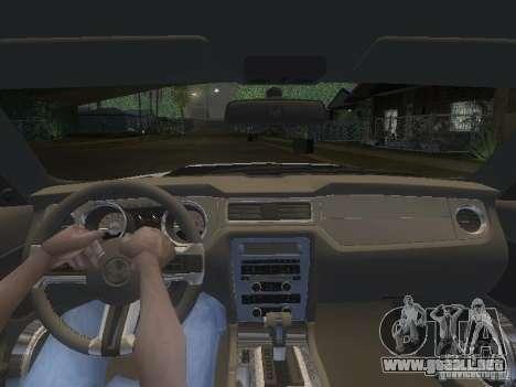Ford Mustang 2011 GT para GTA San Andreas interior