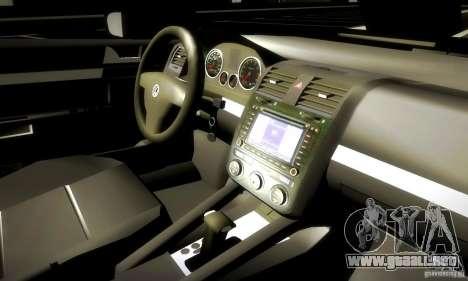 Volkswagen Golf Police para visión interna GTA San Andreas