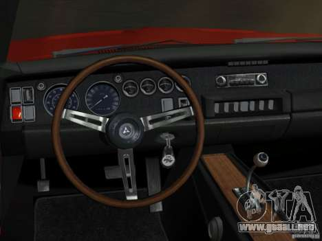 Dodge Charger 426 R/T 1968 v2.0 para GTA Vice City vista interior