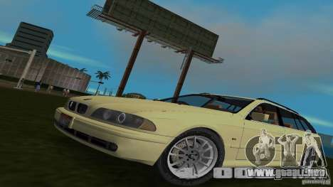 BMW 5S Touring E39 para GTA Vice City vista lateral izquierdo