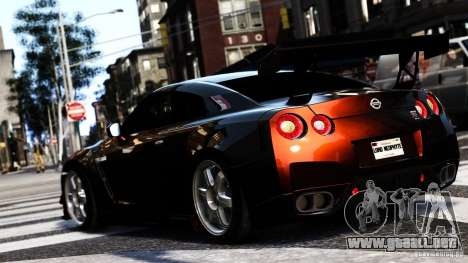 Nissan GT-R R35 SpecV 2010 para GTA 4 left