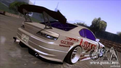 Nissan 150SX Drift para GTA San Andreas vista posterior izquierda