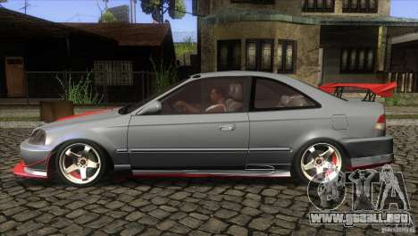 Honda Civic SI para GTA San Andreas left