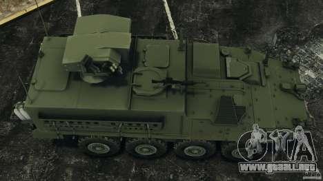 Stryker M1134 ATGM v1.0 para GTA 4 visión correcta