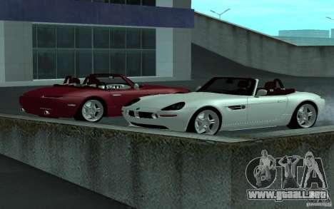 BMW Z8 para GTA San Andreas vista hacia atrás