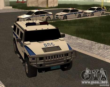 Hummer H2 DPS para visión interna GTA San Andreas