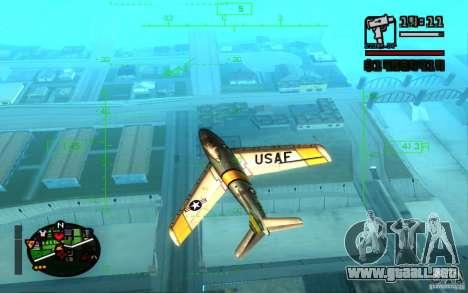F 86 Sabre para GTA San Andreas left