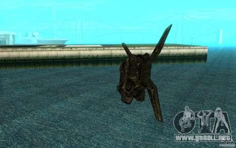 El transbordador desde el juego Aliens vs Predat para GTA San Andreas vista hacia atrás