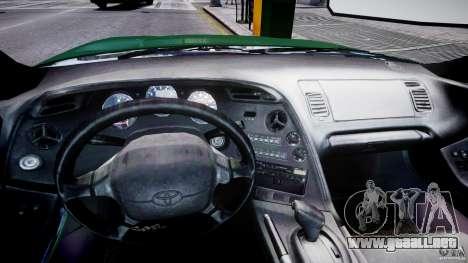 Toyota Supra MKIV 1995 v2.0 Final para GTA 4 vista hacia atrás