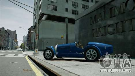 Bugatti Type 35C para GTA 4 left