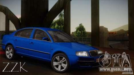 Skoda Superb 2006 para visión interna GTA San Andreas