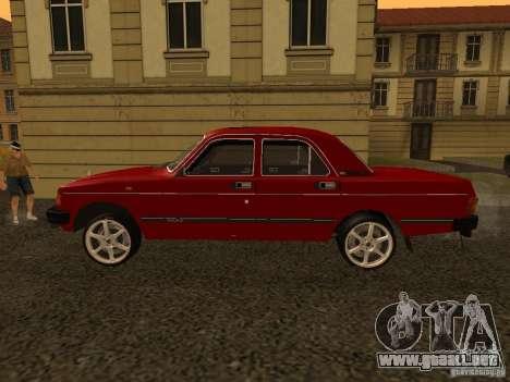 Volga GAZ 31029 Sl para GTA San Andreas vista posterior izquierda