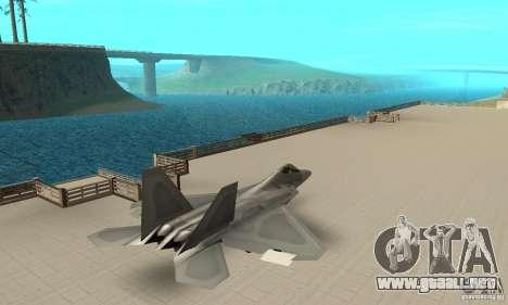 F-22 Grey para GTA San Andreas vista posterior izquierda