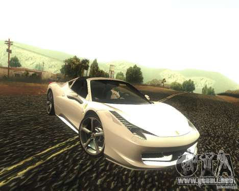 Ferrari 458 Italia Convertible para GTA San Andreas vista hacia atrás