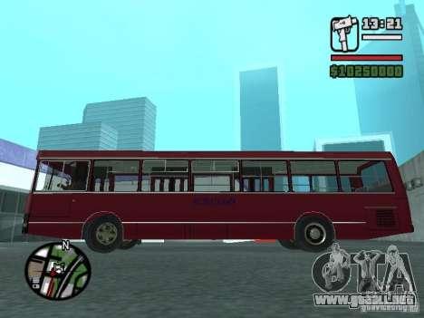 LAZ 5252 para visión interna GTA San Andreas
